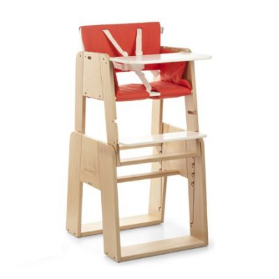 Highchair-Fully-equipped-Wood-frame-Set-0-m-NEWBORN-SET-RED