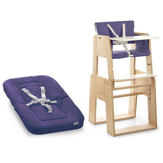 Growi Highchair (fully equipped) & newborn set with cushions
