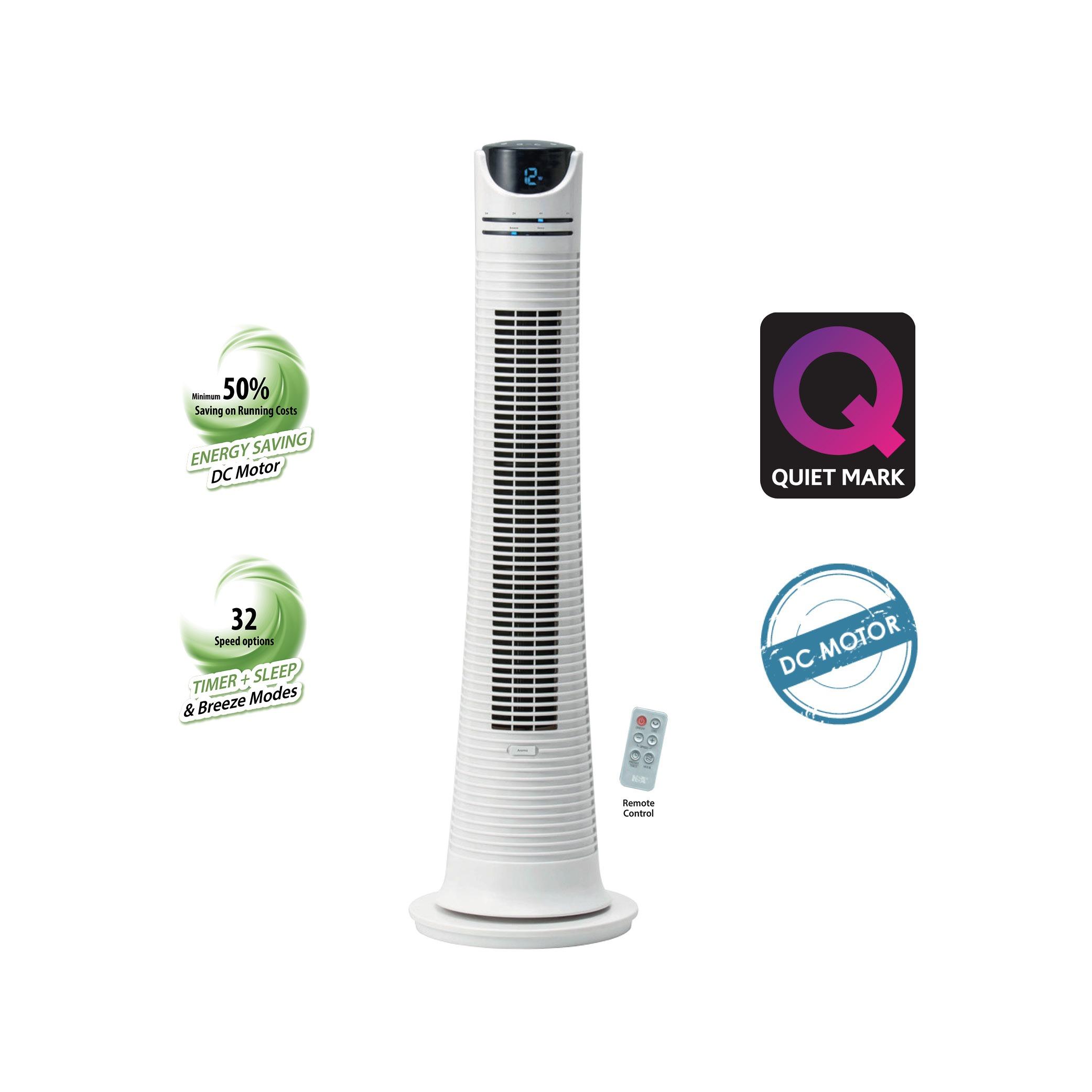 Eco Tower Fan w  DC Motor & RC