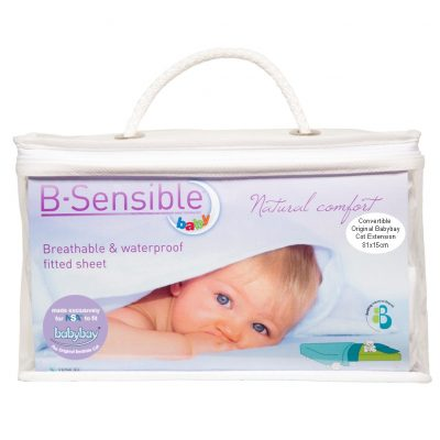 B-sensible Tencel Sheets for Convertible Original Babybay Cot Extn