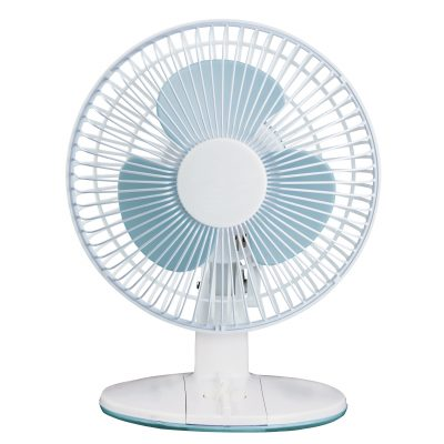 9in white desk fan