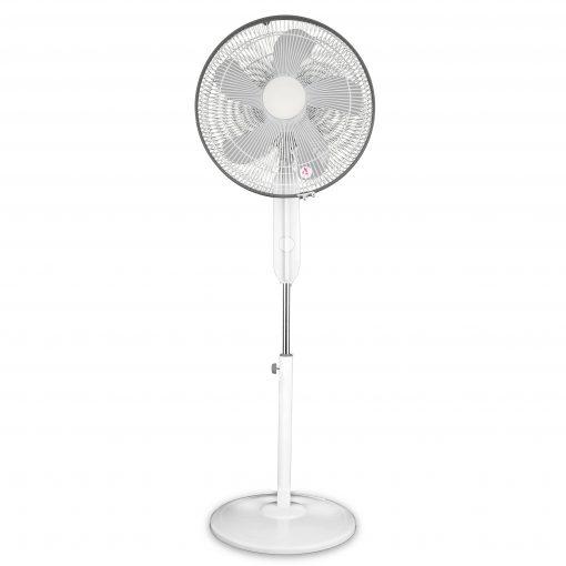 16in White pedestal fan